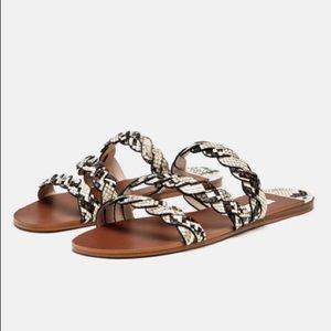 *Like New* Zara sandals with braided animal print